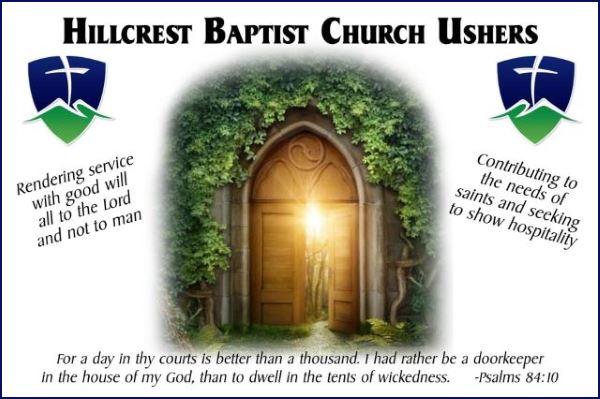 Hillcrest Baptist Church Ushers
