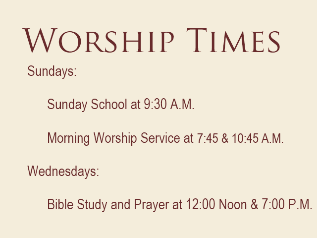 worship-times-at-hillcrest-baptist-church
